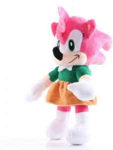 Peluche de Amy Rose de 26 cm de SEGA - Los mejores peluches de Sonic - Peluches de personajes del erizo Sonic