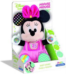 Peluche de Baby Minnie Mouse de Clementoni de 37 cm - Los mejores peluches de Minnie Mouse - Peluches de Disney