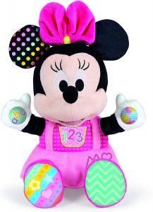 Peluche de Baby Minnie Mouse de Clementoni de 38 cm - Los mejores peluches de Minnie Mouse - Peluches de Disney