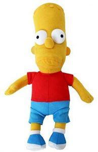 Peluche de Bart Simpson de 25 cm - Los mejores peluches de los Simpsons - Peluches de series de dibujos animados