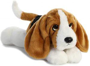 Peluche de Basset Hound de 30 cm de Aurora - Los mejores peluches de Basset Hounds - Peluches de perros