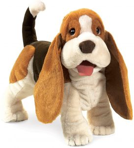 Peluche de Basset Hound de 40 cm de Folkmanis - Los mejores peluches de Basset Hounds - Peluches de perros