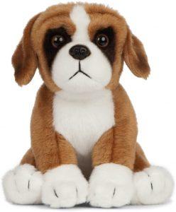 Peluche de Boxer de 16 cm de Living Nature - Los mejores peluches de boxers - Peluches de perros
