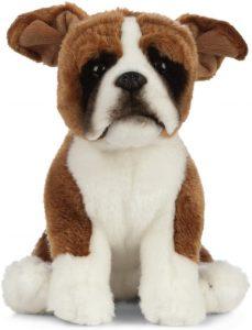 Peluche de Boxer de 20 cm de Living Nature - Los mejores peluches de boxers - Peluches de perros