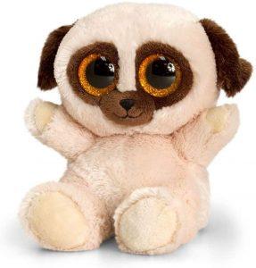 Peluche de Carlino de 15 cm de Keel Toys - Los mejores peluches de carlinos - PUG - Peluches de perros