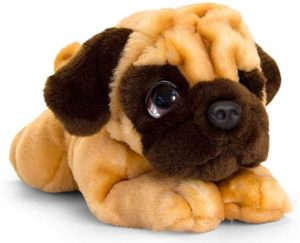 Peluche de Carlino de 37 cm de Keel Toys - Los mejores peluches de carlinos - PUG - Peluches de perros