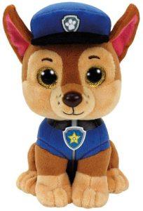 Peluche de Chase de la Patrulla Canina de 15 cm de Ty - Los mejores peluches de la Patrulla Canina - Peluches de la Patrulla Canina