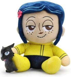 Peluche de Coraline de 50 cm de Kidrobot - Los mejores peluches de los mundos de Coraline - Peluches de Coraline