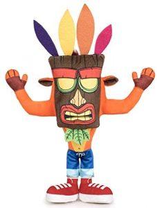 Peluche de Crash Bandicoot máscara Aku Aku de 32 cm - Los mejores peluches de Crash Bandicoot - Peluches de personaje de Crash Bandicoot