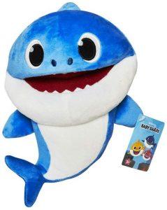 Peluche de Daddy Shark de 17 cm - Los mejores peluches de Baby Shark - Peluches de personajes de Baby Shark
