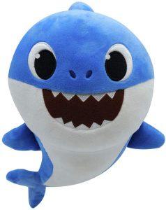 Peluche de Daddy Shark de 30 cm - Los mejores peluches de Baby Shark - Peluches de personajes de Baby Shark