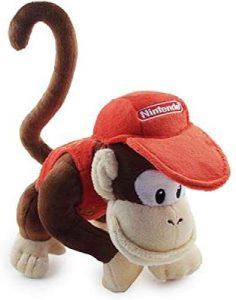 Peluche de Diddy Kong de 19 cm de Mario Bros - Los mejores peluches de Donkey Kong - Peluches de personajes del gorila Donkey Kong