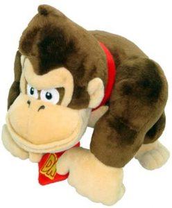 Peluche de Donkey Kong de 18 cm de Mario Bros - Los mejores peluches de Donkey Kong - Peluches de personajes del gorila Donkey Kong