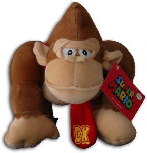 Peluche de Donkey Kong de 21 cm de Mario Bros - Los mejores peluches de Donkey Kong - Peluches de personajes del gorila Donkey Kong