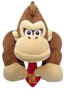 Peluche de Donkey Kong de 24 cm de Mario Bros - Los mejores peluches de Donkey Kong - Peluches de personajes del gorila Donkey Kong