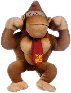 Peluche de Donkey Kong de 25 cm de Mario Bros - Los mejores peluches de Donkey Kong - Peluches de personajes del gorila Donkey Kong