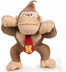 Peluche de Donkey Kong de 26 cm de Mario Bros - Los mejores peluches de Donkey Kong - Peluches de personajes del gorila Donkey Kong