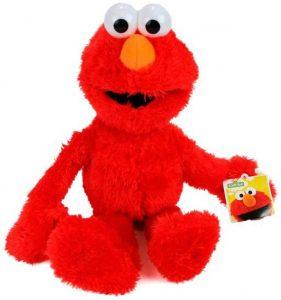 Peluche de Elmo de 38 cm - Los mejores peluches de Barrio Sésamo - Peluches de personajes de Elmo