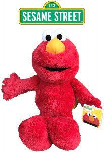 Peluche de Elmo de 40 cm - Los mejores peluches de Barrio Sésamo - Peluches de personajes de Elmo