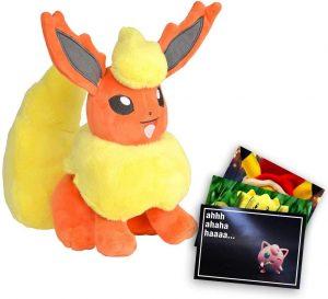 Peluche de Flareon de Eevee de 19 cm 2 - Los mejores peluches de Flareon - Peluches de Pokemon
