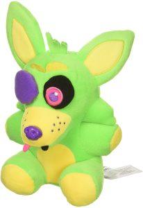 Peluche de Foxy Green de 15 cm - Los mejores peluches de 5 Nights at Freddys - Peluches de videojuegos