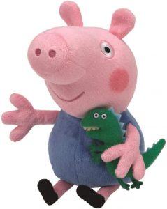 Peluche de George Pig de 16 cm de Ty - Los mejores peluches de Peppa Pig - Peluches de Peppa Pig
