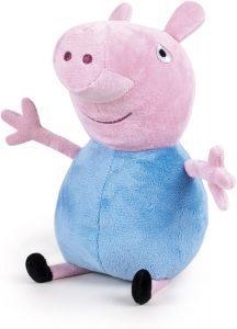 Peluche de George Pig de 27 cm de Famosa - Los mejores peluches de Peppa Pig - Peluches de Peppa Pig