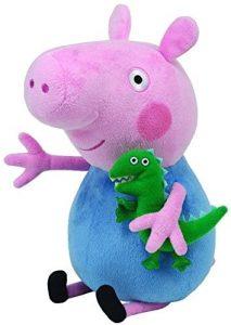 Peluche de George Pig de 28 cm de Ty - Los mejores peluches de Peppa Pig - Peluches de Peppa Pig