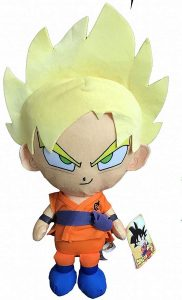 Peluche de Goku Super Saiyan Dios de Dragon Ball Z de 36 cm - Los mejores peluches de Goku de Dragon Ball Z - Peluches de Dragon Ball Z