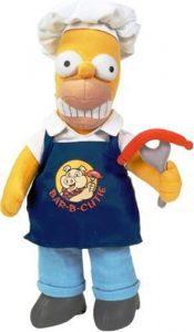 Peluche de Homer Simpson cocinero de 28 cm - Los mejores peluches de los Simpsons - Peluches de series de dibujos animados