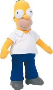Peluche de Homer Simpson de 26 cm - Los mejores peluches de los Simpsons - Peluches de series de dibujos animados