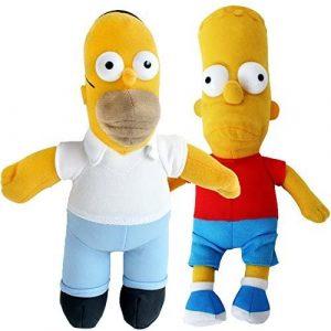 Peluche de Homer y Bart Simpson de 25 cm - Los mejores peluches de los Simpsons - Peluches de series de dibujos animados