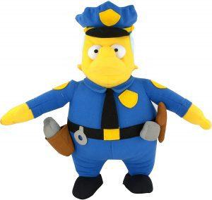 Peluche de Jefe Wiggum de 31 cm - Los mejores peluches de los Simpsons - Peluches de series de dibujos animados