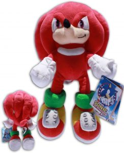 Peluche de Knuckles The Echidna de 32 cm de SEGA - Los mejores peluches de Sonic - Peluches de personajes del erizo Sonic