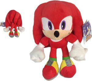 Peluche de Knuckles The Echidna de 33 cm de SEGA - Los mejores peluches de Sonic - Peluches de personajes del erizo Sonic