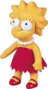 Peluche de Lisa Simpson de 31 cm - Los mejores peluches de los Simpsons - Peluches de series de dibujos animados