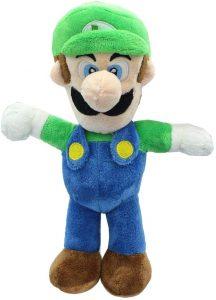 Peluche de Luigi de 30 cm de Mario Bros de Nintendo - Los mejores peluches de Luigi - Peluches de personaje de Luigi