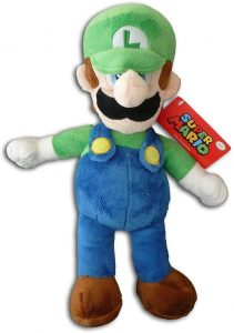 Peluche de Luigi de 35 cm de Mario Bros de Nintendo - Los mejores peluches de Luigi - Peluches de personaje de Luigi