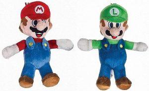 Peluche de Luigi y Mario de 20 cm de Mario Bros de Nintendo - Los mejores peluches de Luigi - Peluches de personaje de Luigi