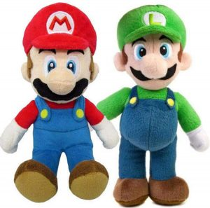 Peluche de Luigi y Mario de 25 cm de Mario Bros de Nintendo - Los mejores peluches de Luigi - Peluches de personaje de Luigi