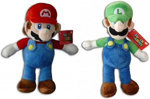 Peluche de Luigi y Mario de 35 cm de Mario Bros de Nintendo - Los mejores peluches de Luigi - Peluches de personaje de Luigi