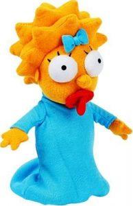 Peluche de Maggie Simpson de 18 cm - Los mejores peluches de los Simpsons - Peluches de series de dibujos animados