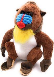 Peluche de Mandril de Onwomania de 17 cm - Los mejores peluches de monos - Peluches de animales