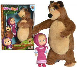 Peluche de Masha y el oso de Simba de 25 y 12 cm - Los mejores peluches de Masha y el oso - Peluches de Masha y el Oso