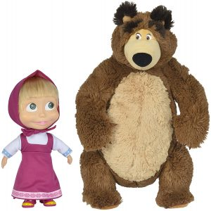 Peluche de Masha y el oso de Simba de 43 y 23 cm 2 - Los mejores peluches de Masha y el oso - Peluches de Masha y el Oso