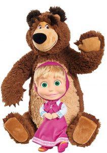 Peluche de Masha y el oso de Simba de 43 y 23 cm - Los mejores peluches de Masha y el oso - Peluches de Masha y el Oso
