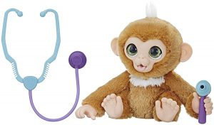 Peluche de Monita Zandi de 40 cm - Los mejores peluches de Furreal Friends - Peluches de animales de Furreal Friends - La mona médico