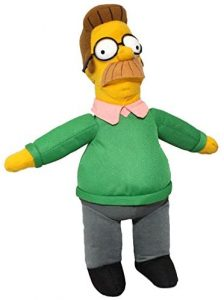 Peluche de Ned Flanders de 37 cm - Los mejores peluches de los Simpsons - Peluches de series de dibujos animados