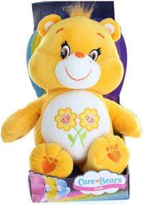 Peluche de Oso Amoroso amarillo de 30 cm Paz - Los mejores peluches de los Osos amorosos - Care Bears - Peluches de personajes de los osos amorosos
