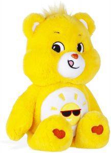 Peluche de Oso Amoroso amarillo de 33 cm - Los mejores peluches de los Osos amorosos - Care Bears - Peluches de personajes de los osos amorosos